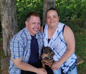 Jesse Vroegh, his wife Jackie and dog Jazz.