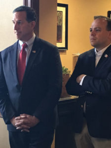 Rick Santorum and Matt Schultz.