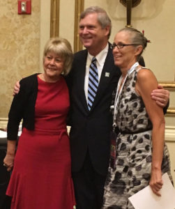 Christie and Tom Vilsack with Vilsack 1998 campaign manager Teresa Vilmain. (L-R).