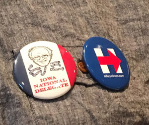 Oelson's delegate pins.