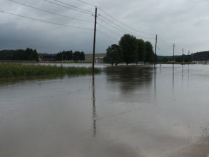Decorah flooding on Old Stage Road.