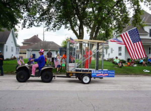 Kyle Julin posted this picture and others of him pulling the float on his Facebook page.