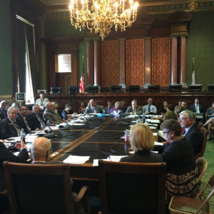 Medicaid hearing at the Iowa State Capitol.