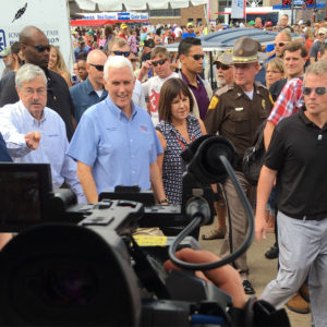 Mike Pence at the Iowa State Fair.