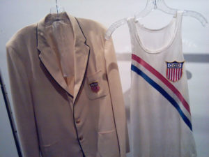 George Lambert's Olympic blazer and singlet.