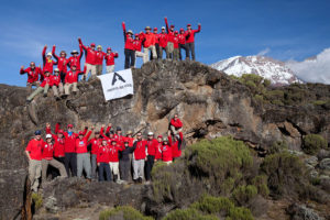 The Above and Beyond group at Mt. Kilimanjaro climb in 2012