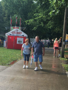 People at the Iowa State Fair were greeted by rain.
