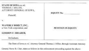 Iowa's Attorney General filed two lawsuits and settled one over mail scams.