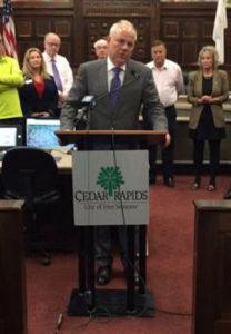 Cedar Rapids city manager Jeff Pomeranz.