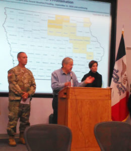 Governor Terry Branstad gives an update on the flooding.