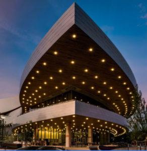 The new Hancher Auditorium.