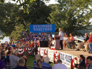 Hillary Clinton in the Quad Cities.
