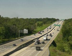 Traffic on I-80 near Des Moines.