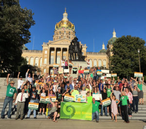 Jill Stein rally at the Iowa Capitol.