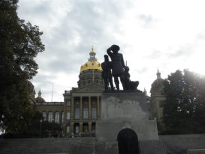 The west side of the State Capitol.