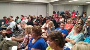 Waterloo residents at Monday night's council meeting.