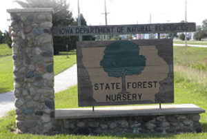 state-forest-nursery-sign