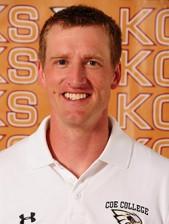 Coe coach Tyler Staker