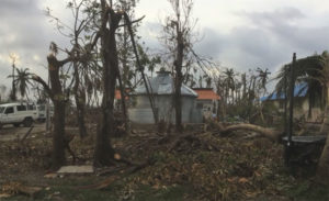 Storm damage in Haiti.