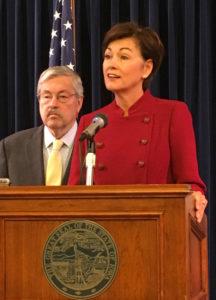 Lt. Governor Kim Reynolds and Governor Terry Branstad.