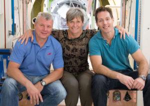 Oleg Novitsky, Peggy Whiston, Thomas Pesquet.