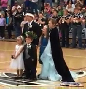 The Wayne Community Homecoming Court.