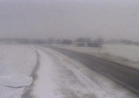 DOT traffic camera view on Highway 10 near Alton.