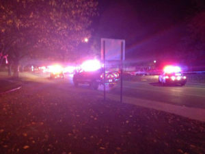 Scene of police shooting in Cedar Rapids.