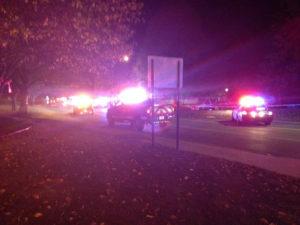 Scene of police shooting in Cedar Rapids.