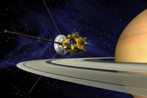 NASA illustration of Cassini spacecraft.
