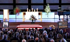 Sergeant Tony Beminio's casket.