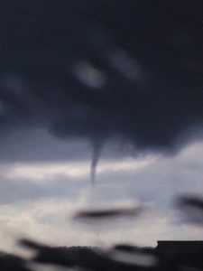 NWS photo of a funnel cloud near Radcliffe.