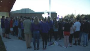 Vigil at Linn-Mar High School