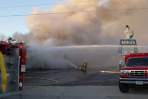 Luigi's in Oelwein burned down Saturday.