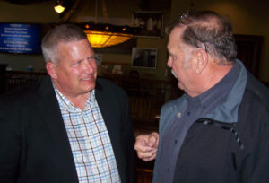 Ag Secretary Bill Northey visits with Bill Tentinger of Le Mars.