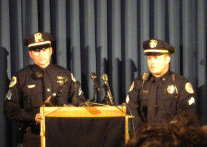 Sgt. Paul Parizek of Des Moines and Sgt. Chad Underwood of Urbandale.