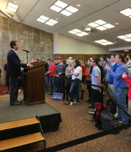 Donald Trump Jr. speaks in Ames.