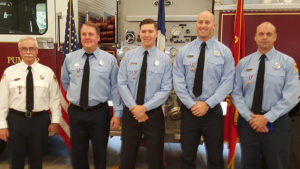 Cpt. Doug Burke, Firefighter John Roehrick, Medic Keith Maki, Firefighter Stephen Kiburz, Firefighter Mark Pavelka.