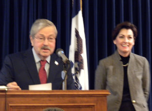 Governor Branstad and Lieutenant Governor Kim Reynolds.