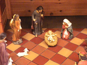 A closer look at the nativity scene.