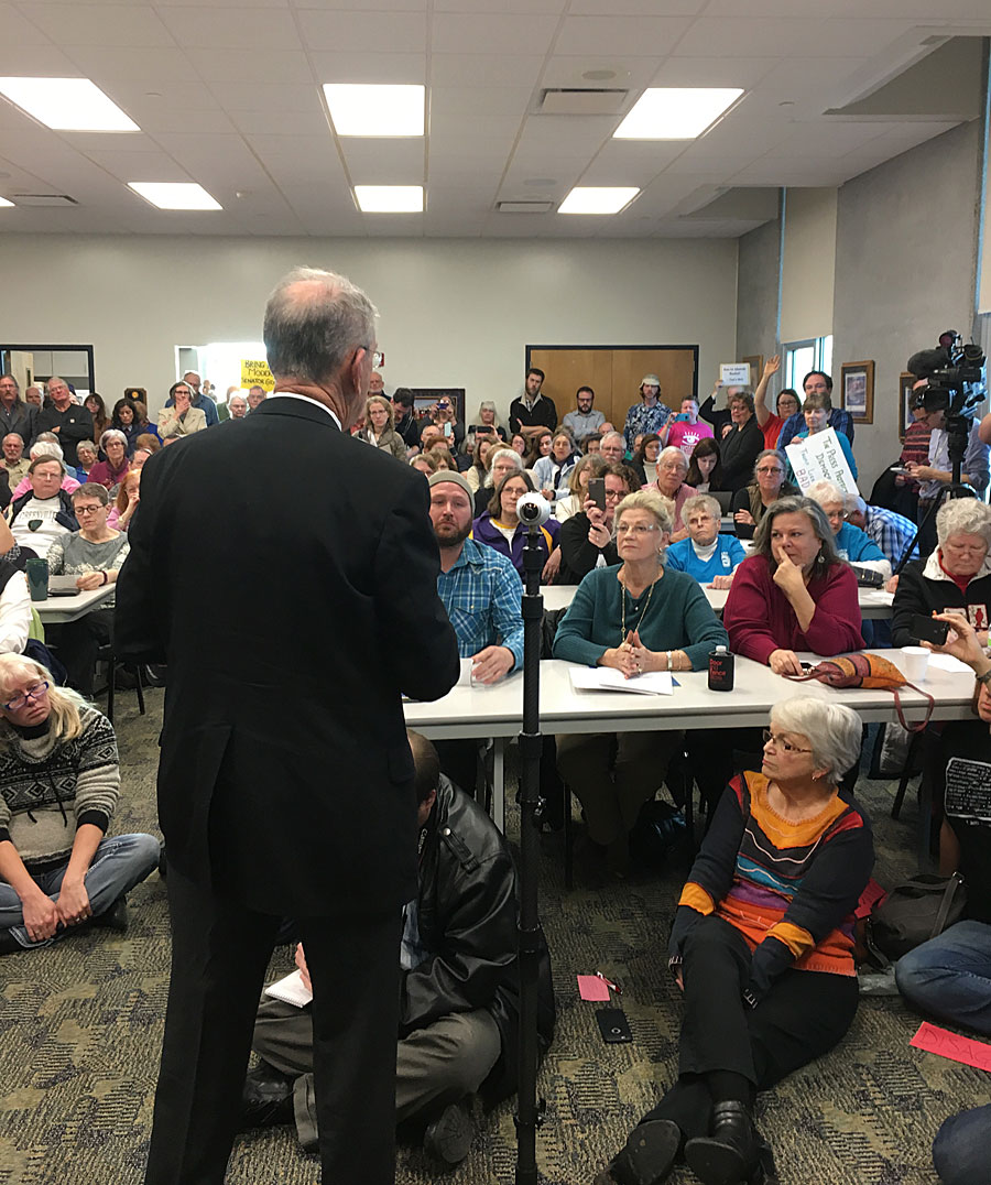 Sen. Grassley Town Hall Jam Packed in Iowa Falls