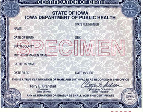 Thousands Of Iowans Encouraged To Get A New Birth Certificate