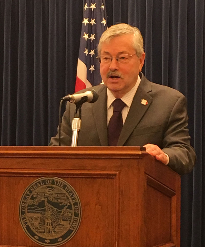 Senate committee sets hearing for Branstad's ambassador post