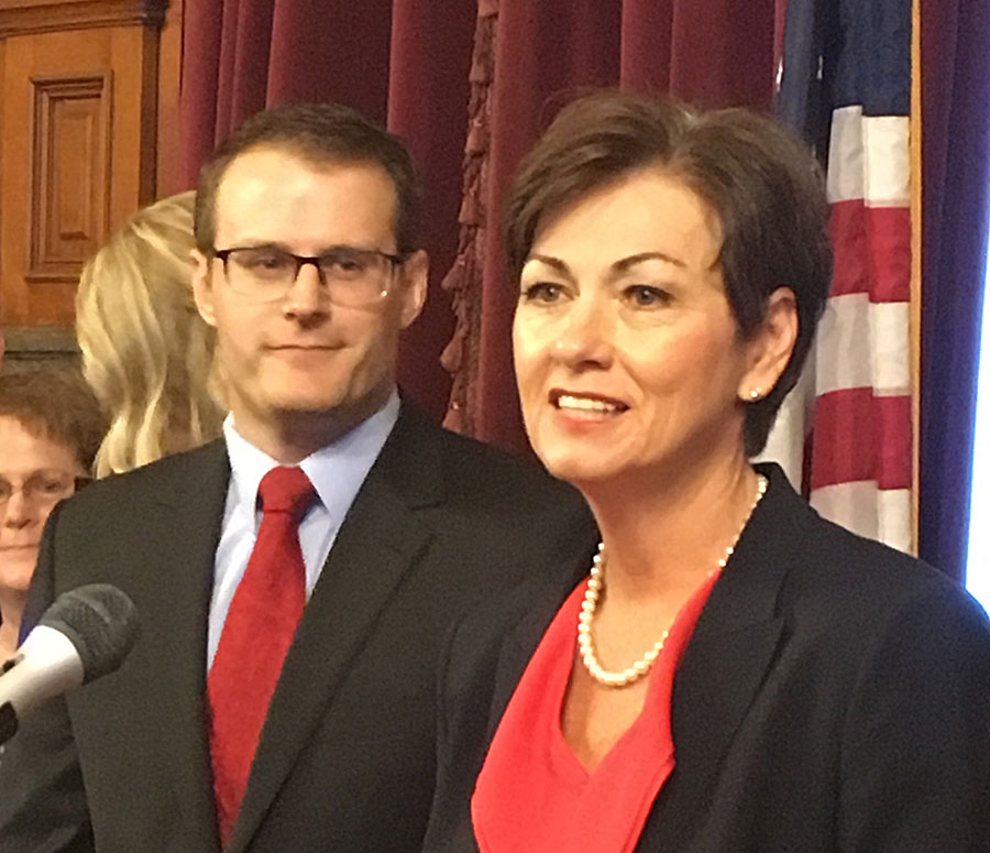 Kim Reynolds fills 3 more posts on 3rd day as Iowa's governor