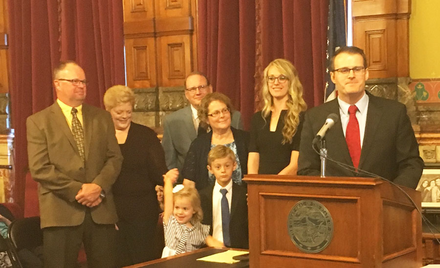 New Iowa governor names Adam Gregg 'acting lieutenant gov'
