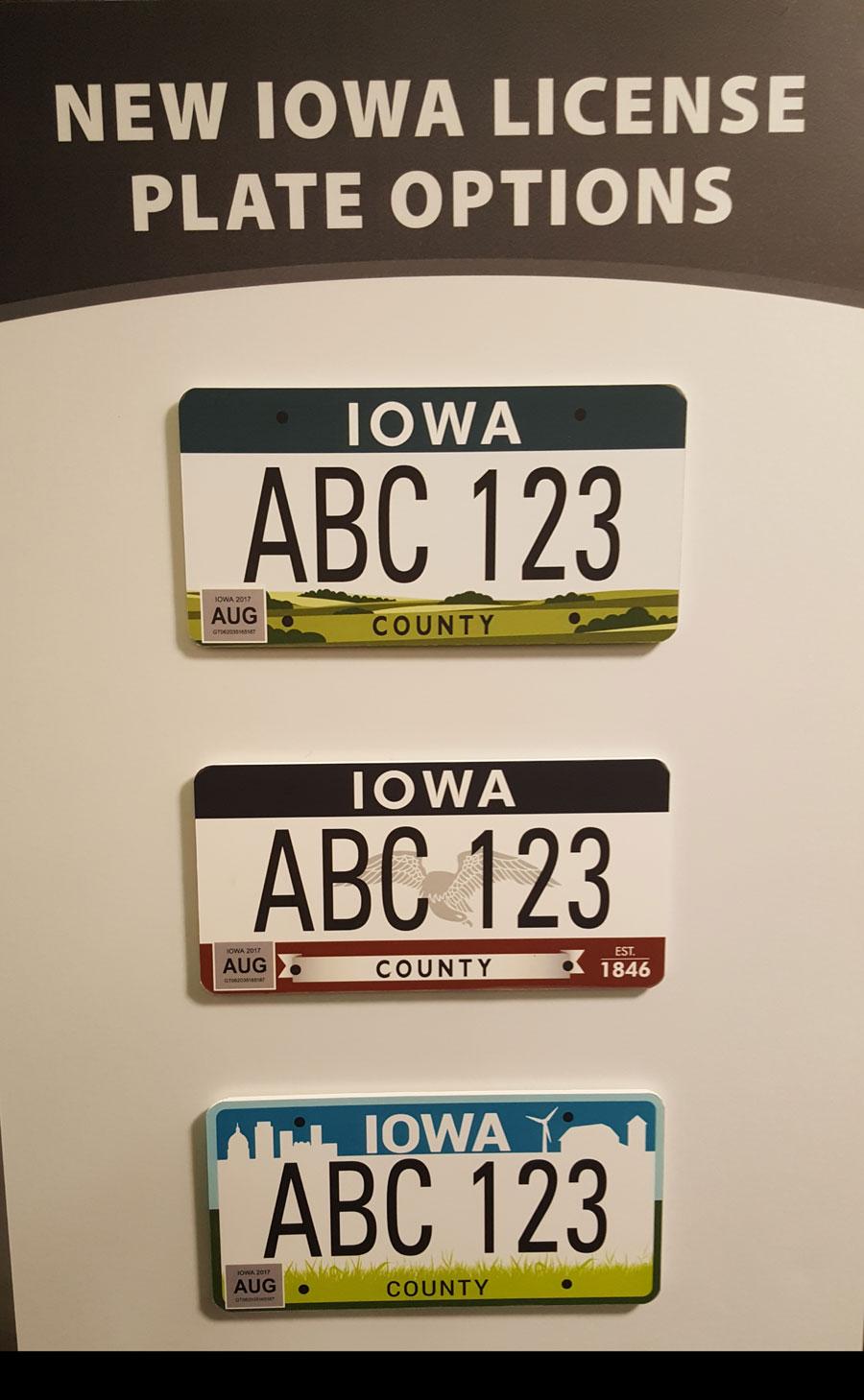 New Iowa License Plate Design