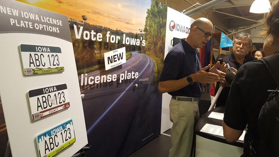 Iowa DOT unveils new license plate designs