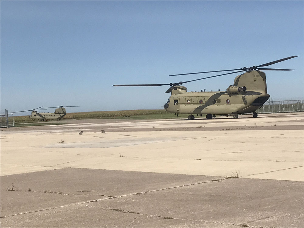 Iowa National Guard Chinook helicopters