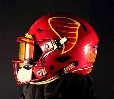 Iowa State unveils new helmet logo for Texas game - Radio Iowa