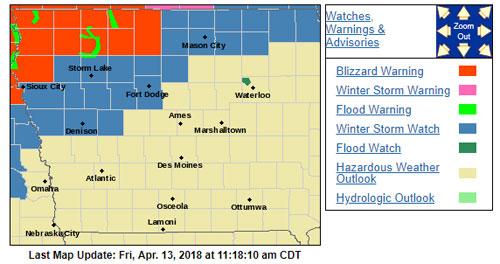 Northwest Iowa under a blizzard warning - Radio Iowa